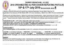 SURREY BRANCH M.L.A.G.B. Open Pistol/Revolver Competition @ The NSC, Bisley | United Kingdom